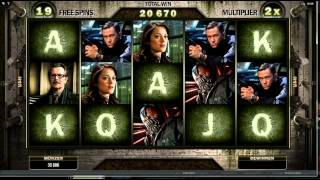 The Dark Knight Rises Slot - Rolling Reels Feature - Mega Big Win (180x Bet)
