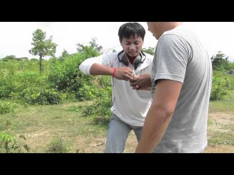 Throwing a hand grenade in cambodia