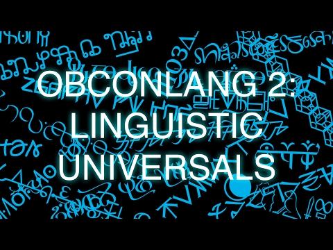 ObConlang, Episode 2: Linguistic Universals