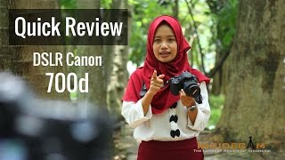 DSLR Canon 700d - Review Indonesia