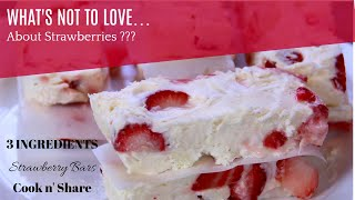 3 Ingredient Strawberry Bars