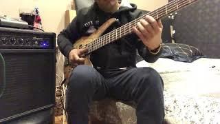 funky slap bass line