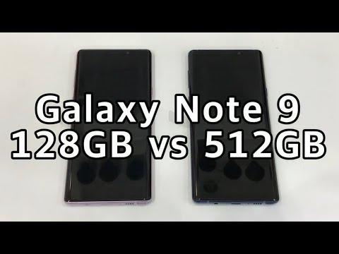 Samsung Galaxy Note9 512GB Vs 128GB Speed Comparison Test! (갤럭시노트9 512GB Vs 128GB 속도비교 테스트)