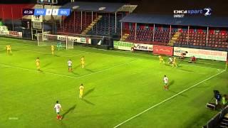 Alexander Vasilev  NUMBER 19 (white shirt)  winger Bulgaria U21 vs Romania U21 september 2015