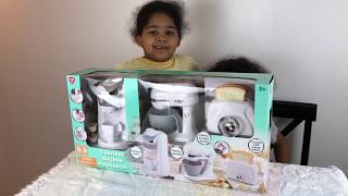 Amin and Omid Pretend playing Gourmet Kitchen Appliances