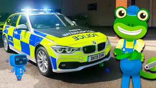 Police Car For Kids | Gecko's Real Vehicles | Police Videos For Children | Educational Videos