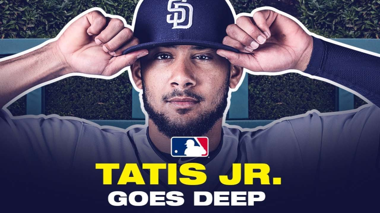 Super prospect Tatis Jr. CONNECTS for first ST homer