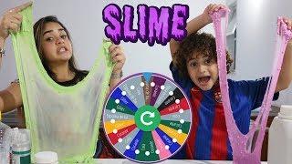DESAFIO DA ROLETA MISTERIOSA DE SLIME (MYSTERY WHEEL OF SLIME CHALLENGE) #2 thumbnail