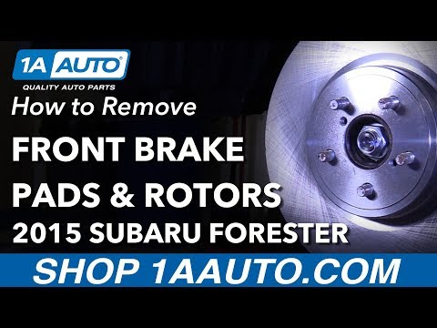 How to Replace Front Brakes 11-18 Subaru Forester