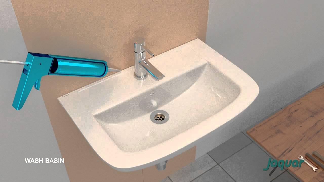 Jaquar wash basin installation youtube for Jaquar bathroom designs