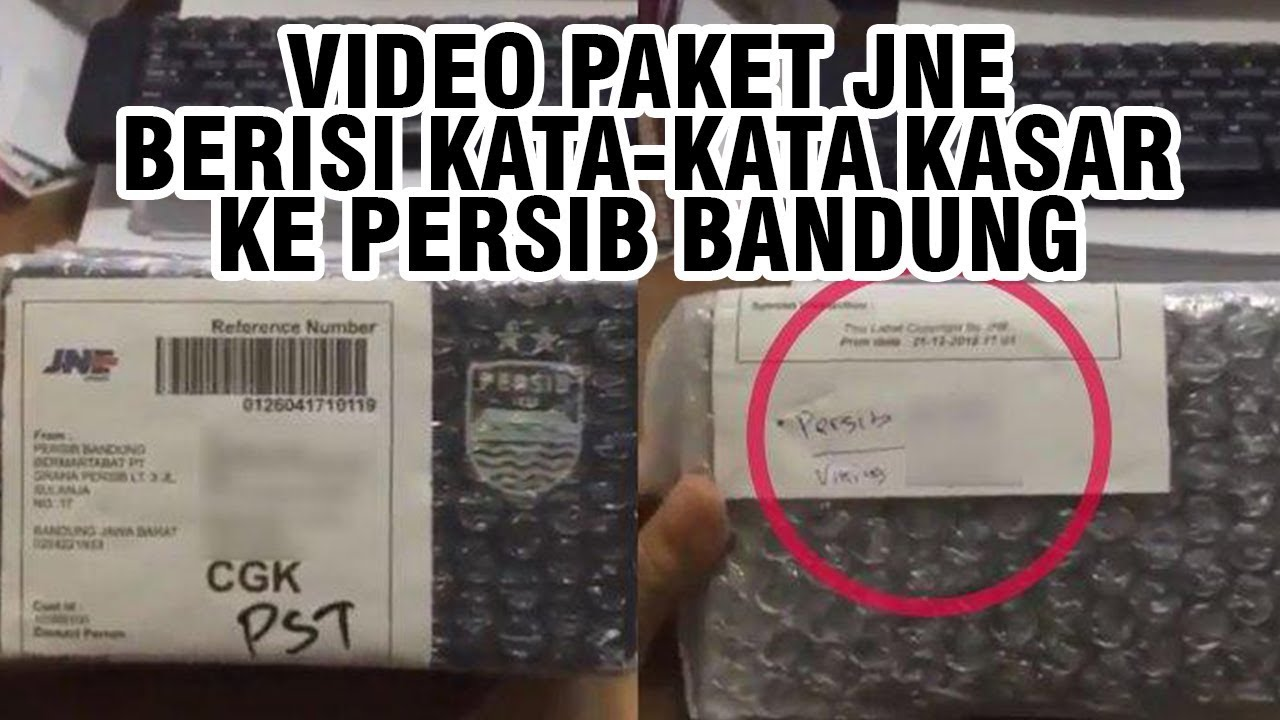Beredar Video Seseorang Terima Paket Yang Berisi Kata Kata Kasar Ke Persib Bandung Dan Suporternya