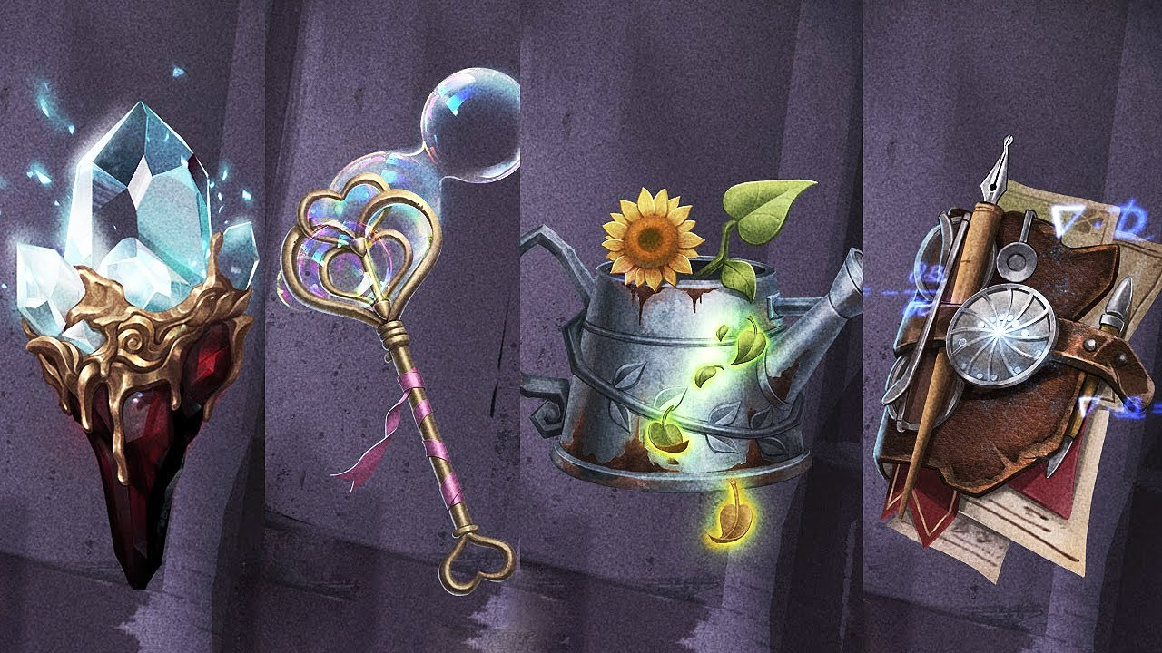 Accessories RE12S: Priestess (S), Mind's eye (А), Mad Eyes (А), Prisoner (A) / Design / Identity V