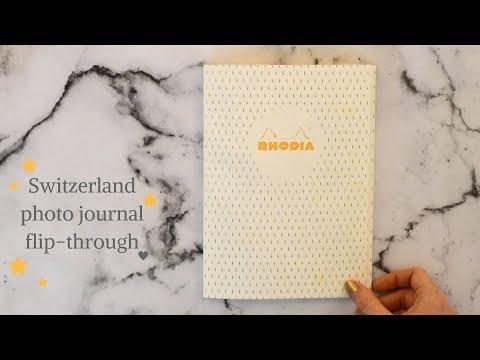 Switzerland photo journal flip-through