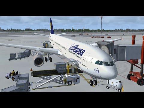 FSX   FSCloud   WSSS (Singapore) - VHHH (Hong Kong)   Lufthansa Airbus A330-300