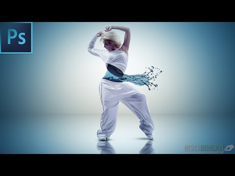 Aqua dance Photo Manipulation + PSD — Photoshop Tutorial