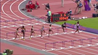100m Hurdles Women's Heat - Full Event- London 2012 Olympics