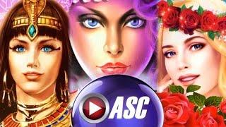 BIG WINS! KONAMI BEAUTIES: RADIANT QUEEN | GYPSY FIRE | WONDER ROSE Slot Machine Bonus