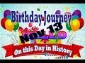 Birthday Journey November 13 New