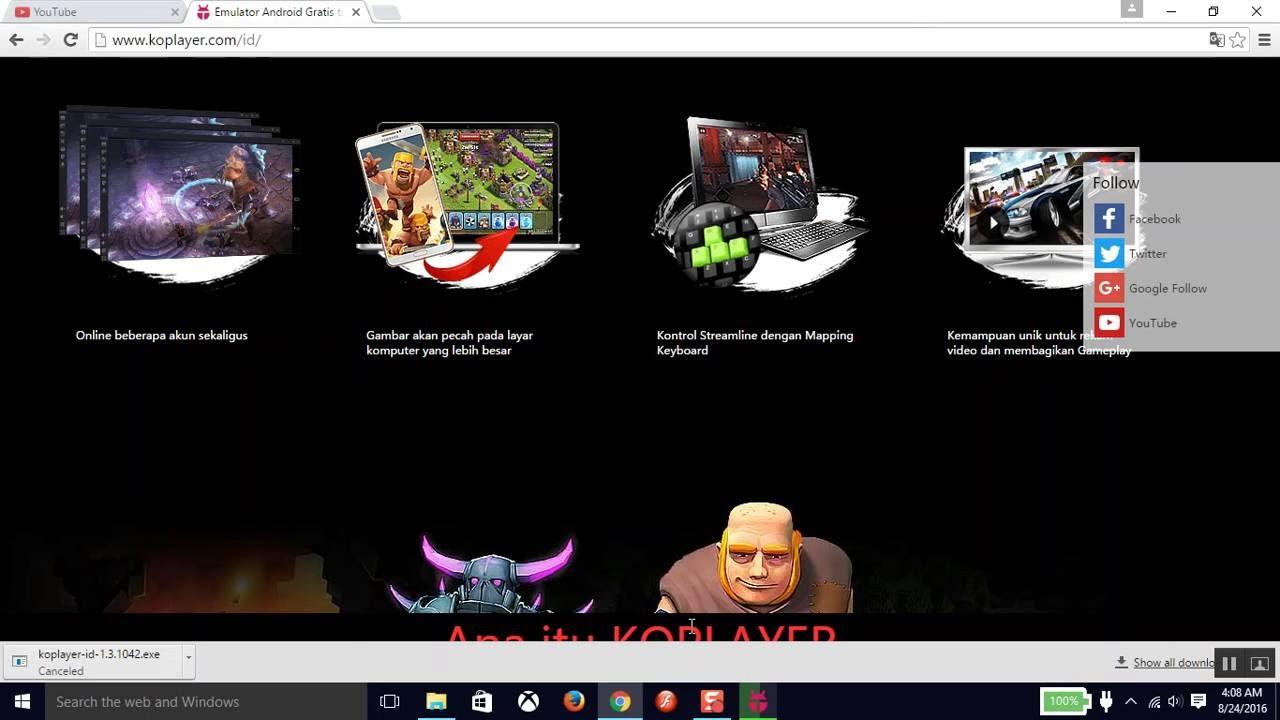 Koplayer untuk main game handphone di PC - YouTube