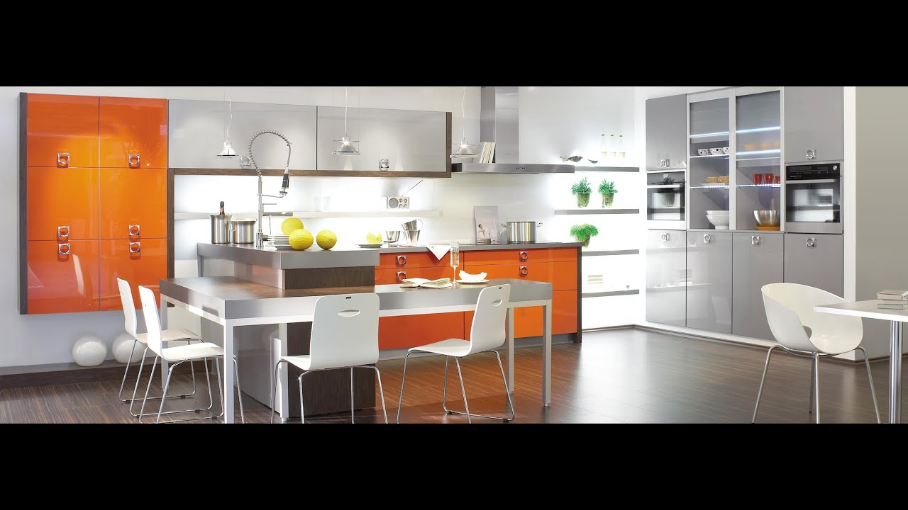 Orange Kitchens Modern Grey Kitchens Interior Design Idea Youtube