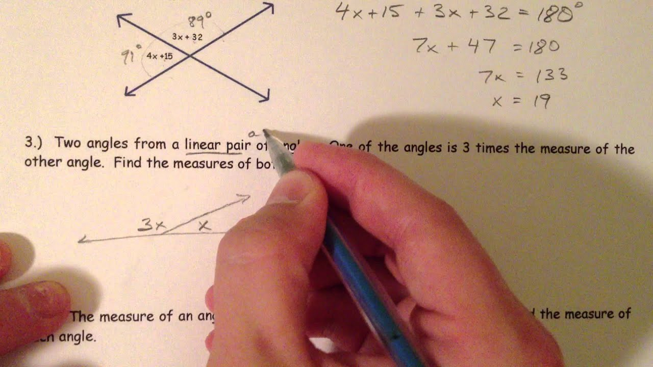 medium resolution of Angle Pair Relationships - YouTube