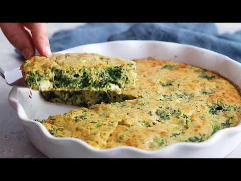 Crustless Spinach and Feta Pie