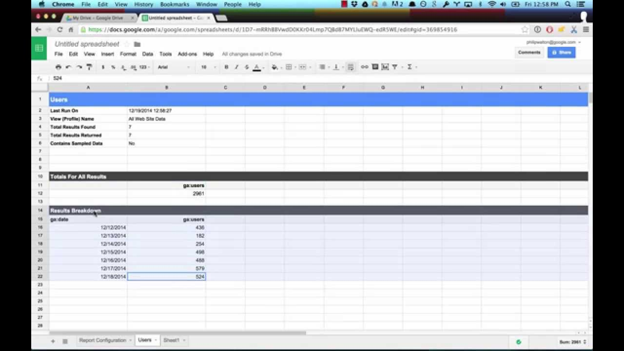 Google Analytics Spreadsheet Add-on | Analytics Implementation