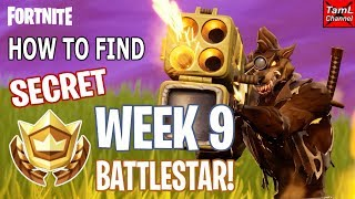 How to Find SECRET Week 9 BATTLESTAR! (Fortnite Battle Royale Season 6)