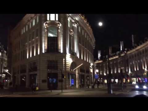 Regents Street, City of London, Night Life.
