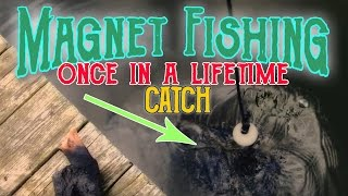 Magnet fishing reveals an unbelievable catch!!