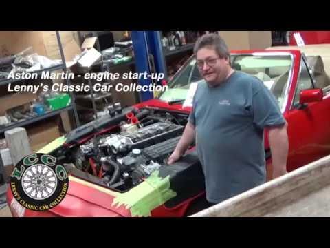 1982 Aston Martin Engine Start Up Lenny S Classic Cars Youtube