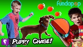 OUR PUPPY RUNS AWAY! FUNDAPOP Outdoor Play with HobbyKidsTV