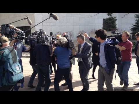Media Scrum for Duffy Trial, Outside Ottawa Court House