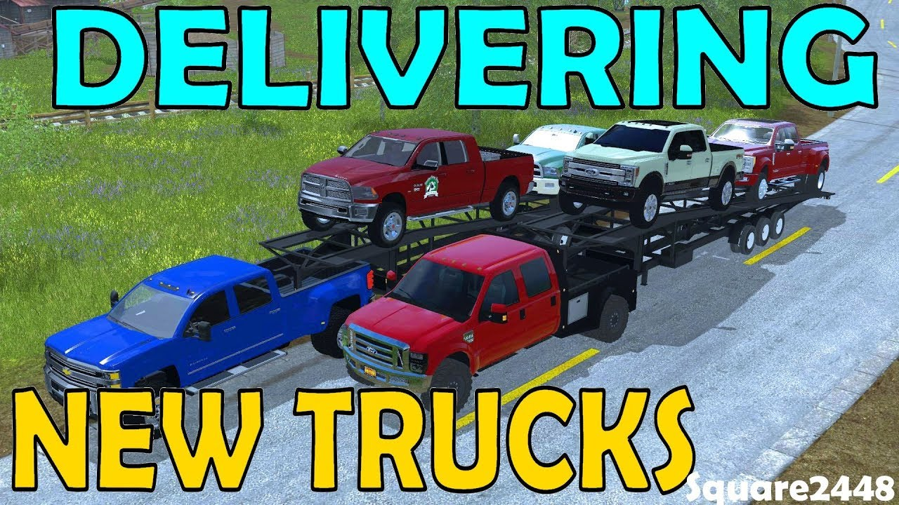 2018 dodge farm truck. contemporary farm farming simulator 17  delivering 2018 pickup trucks ford dodge car  trailer multiplayer on dodge farm truck