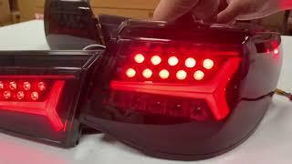 New Arrival Full Led Dynamic Led Turning LED Rear Light For TOYOTA Mark X / Reiz LED 2010-2012