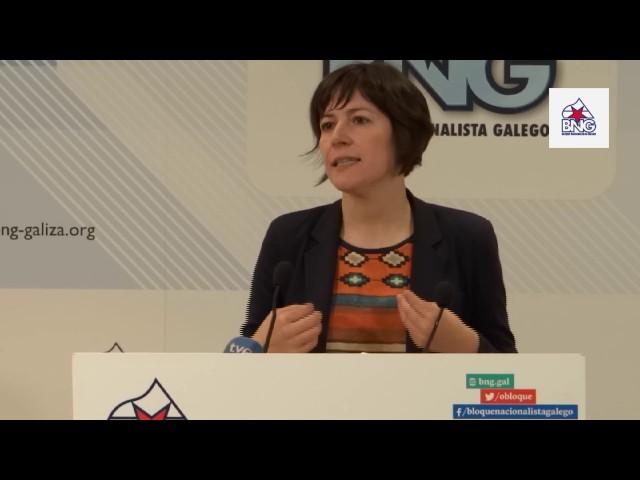 """Ana Pontón: """"Insto ao PP a non ceder ante Villar Mir, as centrais do Xallas non se venden"""""""