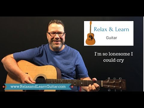 "How to play I'm so lonesome I could cry"" by Hank Williams  beginner guitar"