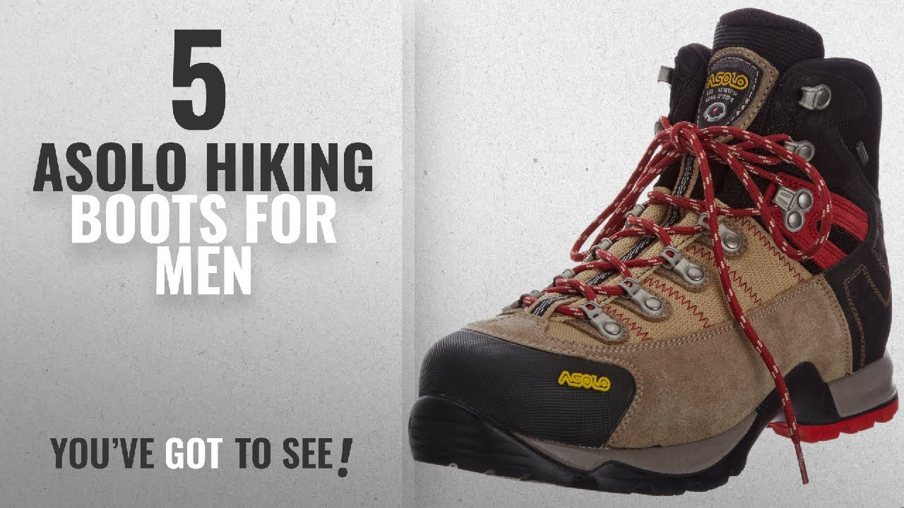 Top 10 Asolo Hiking Boots [ Winter 2018 ]: Asolo Men's Fugitive GTX Hiking Boots, WoolBlack, 10
