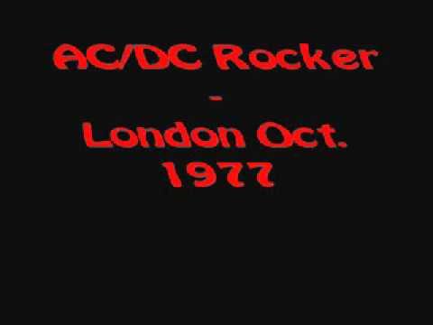 AC/DC - Rocker (Live oct.27 1977 , London )