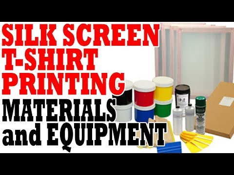 Silk Screen T-shirt Printing Materials And Equipment