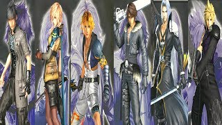 Dissidia Final Fantasy NT - All Character Costumes / Outfits