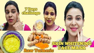 Raw Turmeric Face Mask For Skin Whitening Brightening For Pigmentation Dark Spots Acne Pore Skin