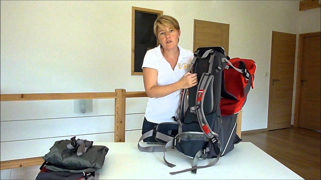 sac dos porte b b voyager s2 youtube. Black Bedroom Furniture Sets. Home Design Ideas