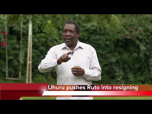 Uhuru pushes Ruto into Resigning!