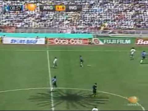Argentina Vs England 1986 Gol de Maradona (The best goal ever)