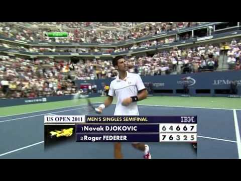 2011 US Open Djokovic   Federer End Of The Epic Match
