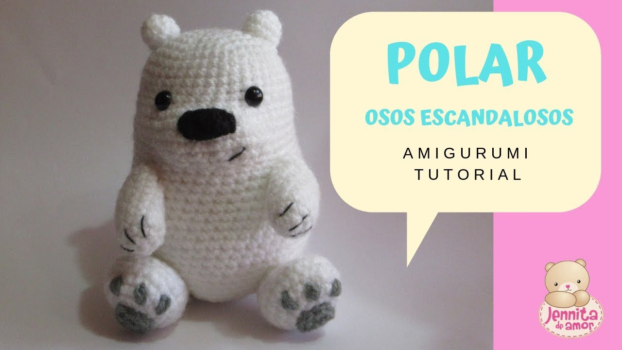 Oso panda Amigurumi, crochet paso a paso - YouTube | 720x1280