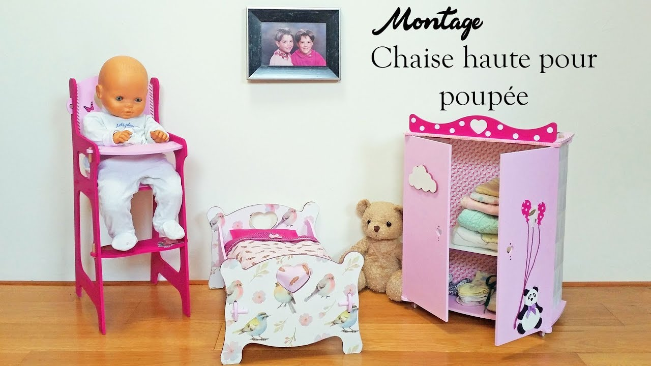 diy tutoriel pour monter une chaise haute pour poup e jouets enfants youtube. Black Bedroom Furniture Sets. Home Design Ideas