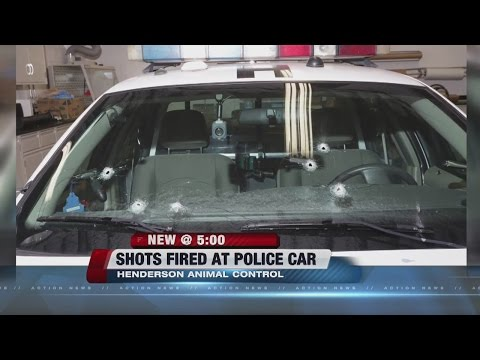 Henderson police investigating unoccupied police car shooting