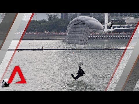 NDP 2018: Navy divers make a splash